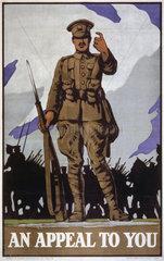World War I recruiting poster  c 1914-1918.