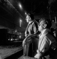 Steel workers at United Steel  Sheffield 1947.