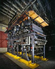 Henry Wood's printing press  1934.