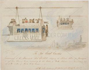'The New Aerial Omnibus'  1854.