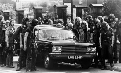 Funeral of a Hell's Angel  September 1973.