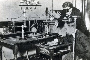 X-ray experiment  late 19th-early 20th century.