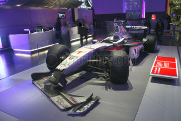 Mika Hakkinen's crashed Formula One racing car  Science Museum  2007.