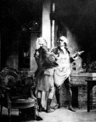 Antoine Lavoisier with Claude Louis Berthollet  French chemists  c 1780s.