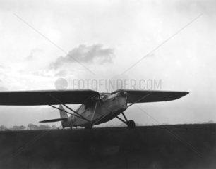 Amy Johnson flying 'Desert Cloud'  8 November 1932.