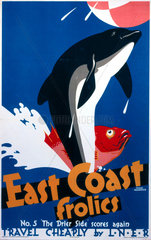 'East Coast Frolics  No 5'  LNER poster  1933.