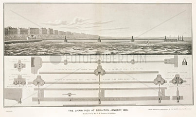 'The Chain Pier at Brighton  January 1825'.