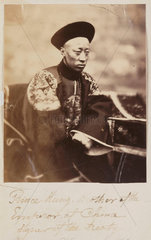 'Prince Kung  Brother of the Emperor of China  signer of the treaty'  1860.