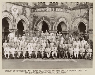 Railway officers  Bombay  India  December 1930.