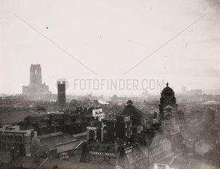 Liverpool skyline  1950.
