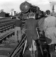 Filming at Dalton Bank  1951.