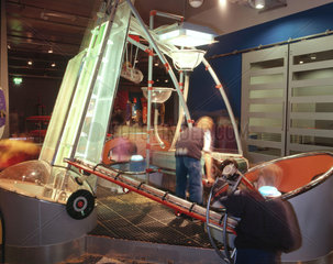 'Grain Pit' interactive exhibit  Science Museum  London  October 2000.