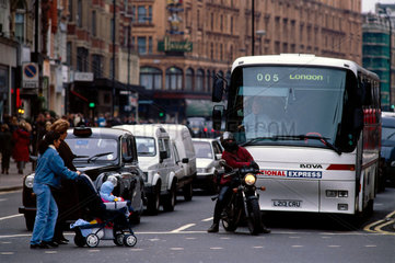 Traffic in London  1997.