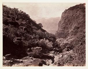 'Dhobie's Glen  Mahabaleshwar  Bombay'  c 1865.