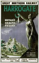 'Harrogate - Britain's Health Resort'  GNR poster  1900-1922.