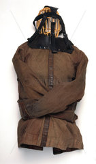 Canvas and leather strait jacket  c 1930.