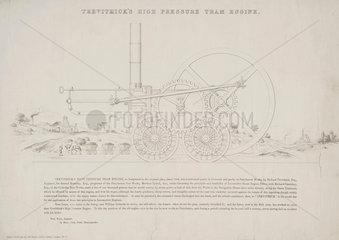 'Trevithick's High Pressure Tram engine' 1803.