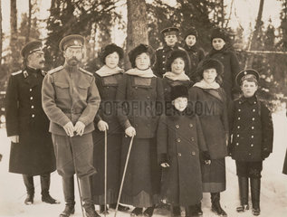 Tsar Nicholas II with his children and nephews  Russia  1915.