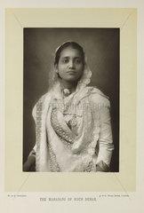 'The Maharani of Kuch Behar'  1893.