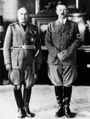 Adolf Hitler and Benito Mussolini  26 September 1937.