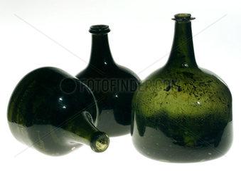 Mallet shaped wine bottles  c 1740.