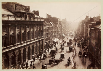 'Strand  London  Looking West'  c 1890.
