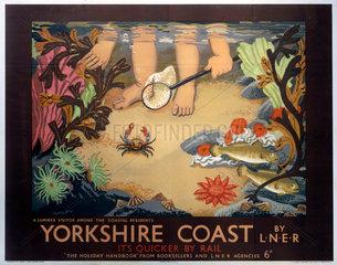 'Yorkshire Coast'  LNER poster  1933.