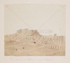 'Vue Generale d'Athenes avec l'acropolis'  c 1855.