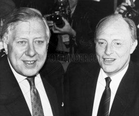 Roy Hattersley and Neil Kinnock  1980s.