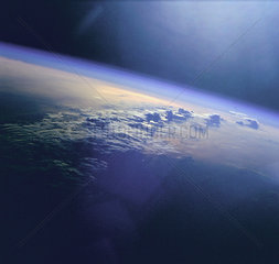 Clouds and Sunglint over Indian Ocean  1 June 1999.