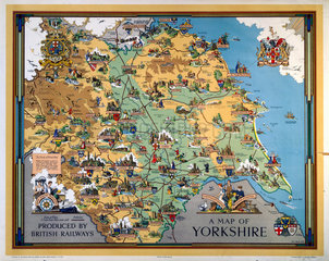 'A Map of Yorkshire'  BR poster  1949.