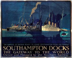 'Southampton Docks: the Gateway to the World'  SR poster  1931.