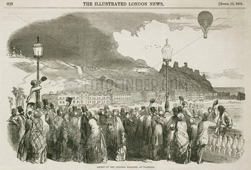 'Ascent of the Victoria Balloon  at Hastings'  12 April  1851.