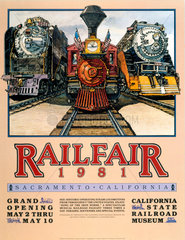 'Railfare'  poster  1981.