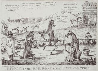 'The effects of the Rail Road on the Brute Creation'  1831.