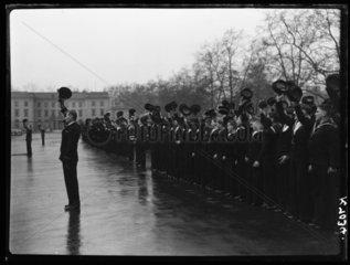 Sea cadets cheering  1942.