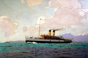 'SS Glen Sannoz on the Clyde'  1923-1948.