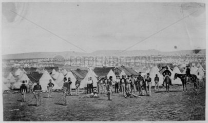 Crimean War camp of the 97th regiment  1854-1856.
