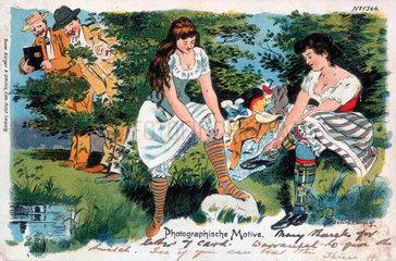 Photographische Motive  postcard  1902.