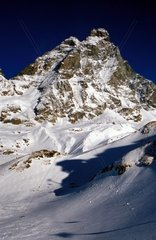 Italy  Aosta Valley  The Alps view of the Matterhorn