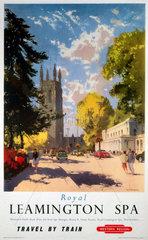 'Royal Leamington Spa'  BR (WR) poster  1958.