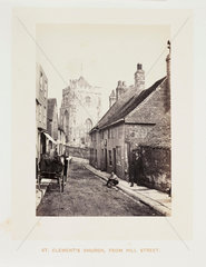 'St Clement's Church  From Hill Street'  1864.