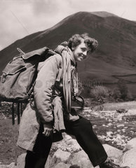 Girl on an Outward Bound Course in Cumbria  1954
