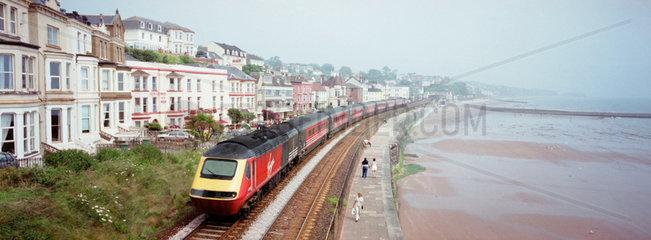 Virgin train  Dawlish  Devon  2000.
