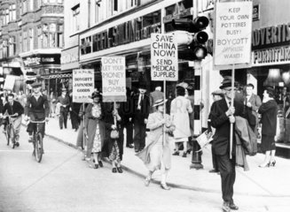 Protest against the Canton bombing  15 August 1938.