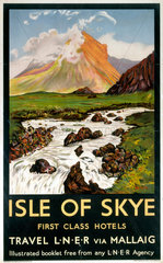 'Isle of Skye - First Class Hotels'  LNER poster  1923-1947.