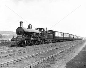 'Queen Empress' steam locomotive  Whitmore  Staffordshire  24 June 1895.