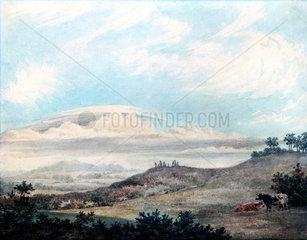 Rural landscape and cloud study by Luke Howard  c 1808-1811.