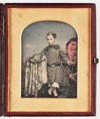 Daguerreotype of a young boy  c 1850.