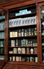 Shop fitting from The Old Pharmacy  Hexham  late 19th early 20th century.
